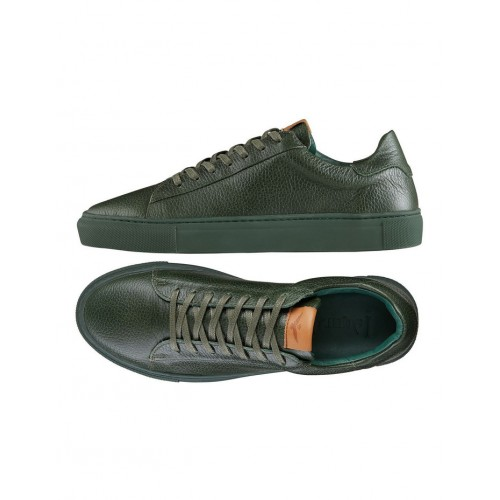 Aquila Mens Deco Leather Sneakers Green Trending Fitted Spring And Winter EZIORIM
