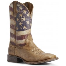 Ariat Men's Circuit Proud American Flag Western Boots - Wide Square Toe Size 13 4X5PJ3151