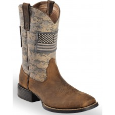 Ariat Men's Distressed Brown Sage Camo Sport Patriot Western Boots - Wide Square Toe Wholesale XY1H67902