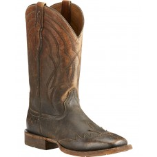 Ariat Men's Far West Naturally Distressed Cowboy Boots - Square Toe Extra Wide Width 6M45H5346