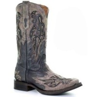 Corral Men's Inlay & Embroidery Western Boots - Square Toe Discount YIJ6G5970