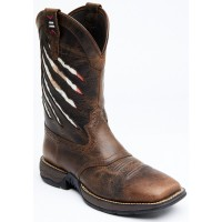 Cody James Men's Xero Gravity Lite Mexican Flag Western Boots - Wide Square Toe On Line BZDAU3607