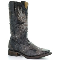 Corral Men's Eagle Overlay Western Boots - Square Toe 5WNMQ5920
