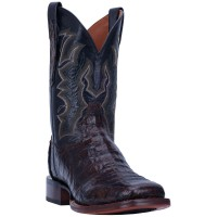 Dan Post Men's Kingsly Caiman Leather Western Boots - Wide Square Toe High End 2XDDO5904