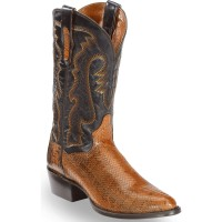 Dan Post Men's Two Tone Water Snake Cowboy Boots - Round Toe Size 12 LVX2Q2610