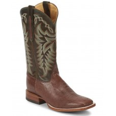 Justin Men's Pascoe Kango Smooth Ostrich Western Boots - Wide Square Toe Large Size OY6A65200