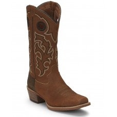Justin Men's Puncher Tan Western Boots - Square Toe Extra Wide Width PA2321127