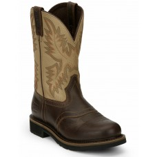 Justin Men's Superintendent Western Boots - Square Toe In Wide Width Deals BF42U8352