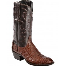 Lucchese Men's Charles Square Toe Crocodile Western Boots On Line 5SSQP7557