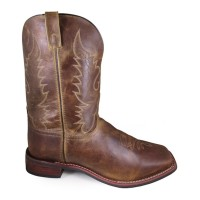 Smoky Mountain Men's Brown Western Boots - Wide Square Toe Regular RVAY59510