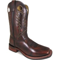 Smoky Mountain Men's Landry Brush Off Leather Cowboy Boots - Square Toe Clearance Sale MU9G88349