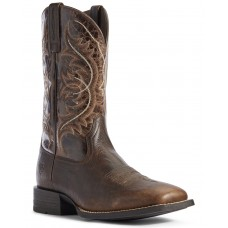 Ariat Men's Canteen Coffee Western Boots - Wide Square Toe ALFDP3711