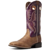 Ariat Men's Sport Teamster Western Boots - Wide Square Toe Wide Feet In Style DY6VU8311
