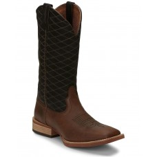 Justin Men's Cattler Brown Western Boots - Wide Square Toe Size 9 Popular 966I4537