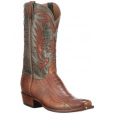 Lucchese Men's Hall Western Boots - Wide Square Toe High End Quality E27FX318