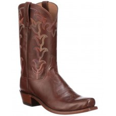 Lucchese Men's Tan Tulip Western Boots - Square Toe A4JB74012
