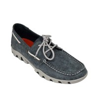 Ferrini Men's Smoky Black Loafer Shoes - Moc Toe Size 15 On Clearance BSX1T5070