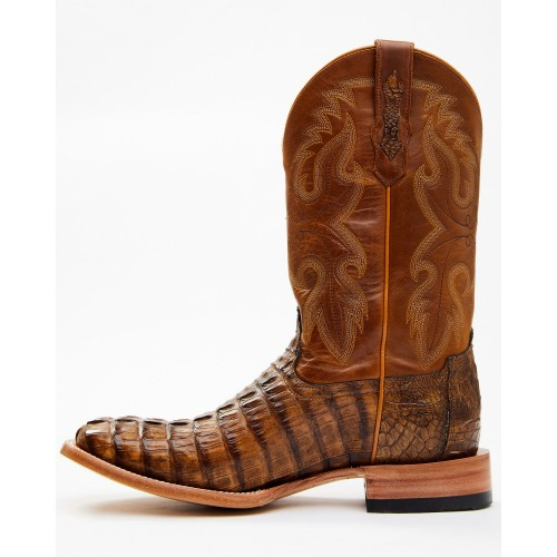 Cody James Men's Exotic Caiman Tail Skin Western Boots - Wide Square Toe High End Hot Sale HMZAD3024