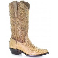 Corral Men's Ostrich Embroidery Western Boots - Round Toe In Wide Width On Line RNOA03190