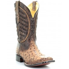 Corral Men's Ostrich Inlay Western Boots - Square Toe F8WIZ8386