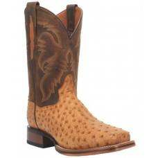 Dan Post Men's Kershaw Exotic Ostrich Skin Western Boots - Wide Square Toe ZXB997627