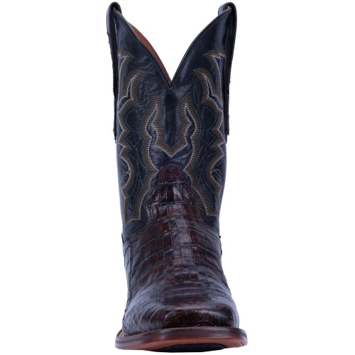 Dan Post Men's Kingsly Caiman Leather Western Boots - Wide Square Toe R3DDR2445