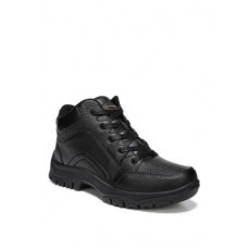 Dr. Scholl's® Boys Charge Leather Sneaker Black New Season FGAS621
