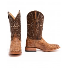 Cody James Men's Burnished Caiman Exotic Boots - Wide Square Toe 11X4N3531