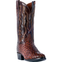 Dan Post Men's Pershing Brass Full Quill Ostrich Cowboy Boots - Medium Toe Large Size 36GD79462