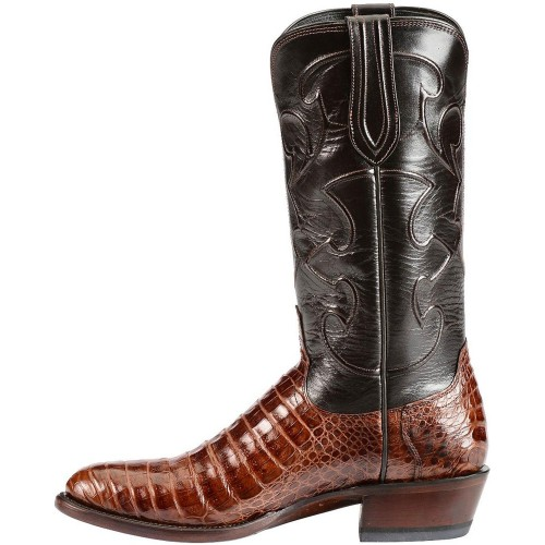 Lucchese Handmade 1883 Caiman Belly Cowboy Boots - Medium Toe Size 12 Or Sale Near Me QGRVE4595
