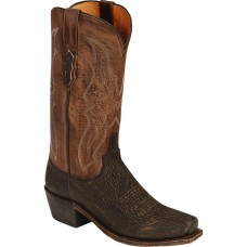 Lucchese Handmade 1883 Carl Sanded Shark Cowboy Boots - Square Toe Indoor Outdoor 1ESZX2680