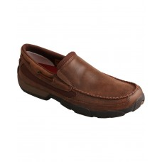 Twisted X Men's Brown Slip-On Driving Mocs Size 12 Wide 4JV873246