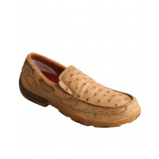 Twisted X Men's Ostrich Print Driving Shoes - Moc Toe Size 14 On Sale Near Me MP6192960