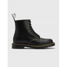 Dr. Martens Mens 1460 Double Stitch Leather Lace Up Boots Black Extra Wide Width Business Casual XHDT449