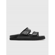 Palm Angels Mens Palm Angels Sandal Black Extra Wide Width New Arrival DOWP764