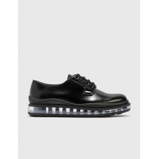 Prada Mens Leather Lace Up Shoes Black Size 15 Discount OZIC508