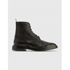 Thom Browne Mens Classic Wingtip Boots Black Size 13 LRPS275
