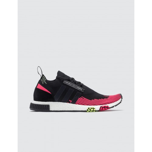 Adidas Originals NMD Racer Primeknit Core Black / Core Black / Shock Red Training Fitted UKGW967